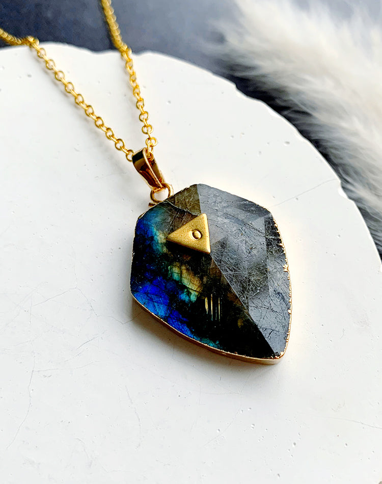 Flint- Labradorite Necklace