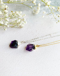 Hera Personalised February Birthstone Amethyst Necklace