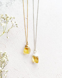 Hera Personalised November Birthstone Citrine Necklace