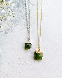 Hera Personalised August Birthstone Peridot Necklace