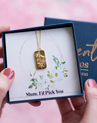 """Mum, I'd Pick You""- 14k Gold Fill Mother's Day Daisy Necklace"