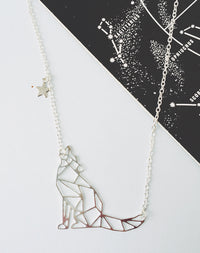 Lupus Constellation Wolf Necklace