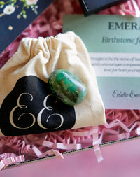 May Birthday Emerald Birthstone Letterbox Gift