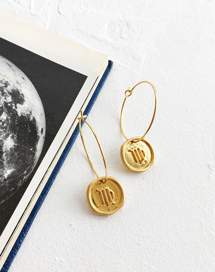 Oracle Zodiac Earrings