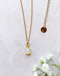 Modern Heirloom: Opal - Personalised Ethiopian Fire Opal Necklace, October birthstone