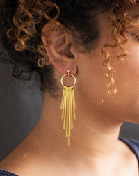 Radial - Gold Statement Earrings