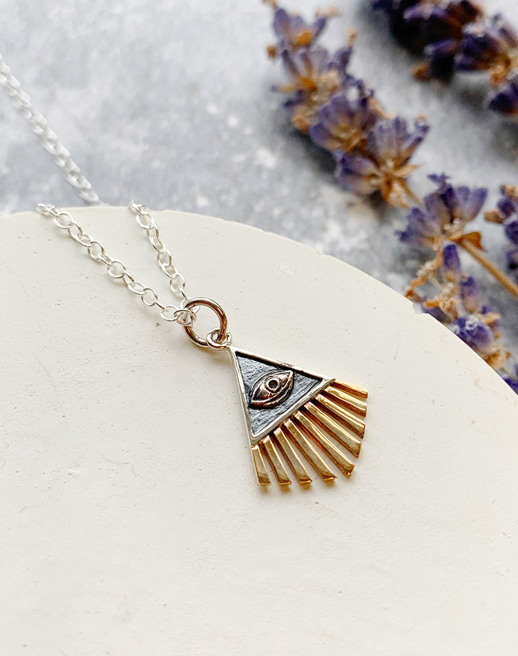 Rays - Sun Ray Sterling Silver Necklace