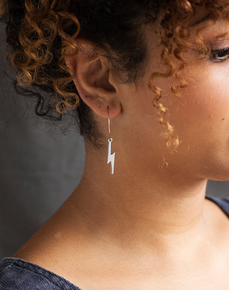 Spark - Lightning Bolt Hoop Earrings