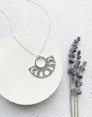 Spell: Moon Phase Sterling Silver Necklace