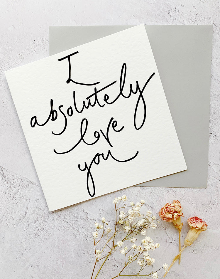 'I Absolutely Love You' Square Oh Squirrel Card