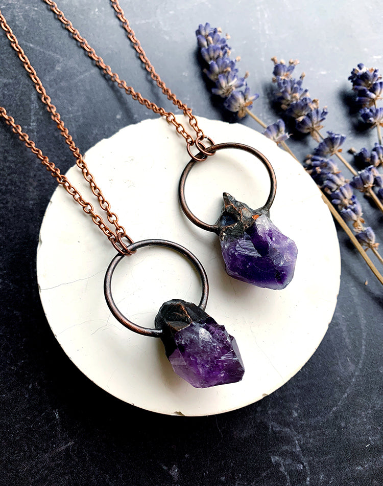 All Ore Nothing - Amethyst Crystal Necklace