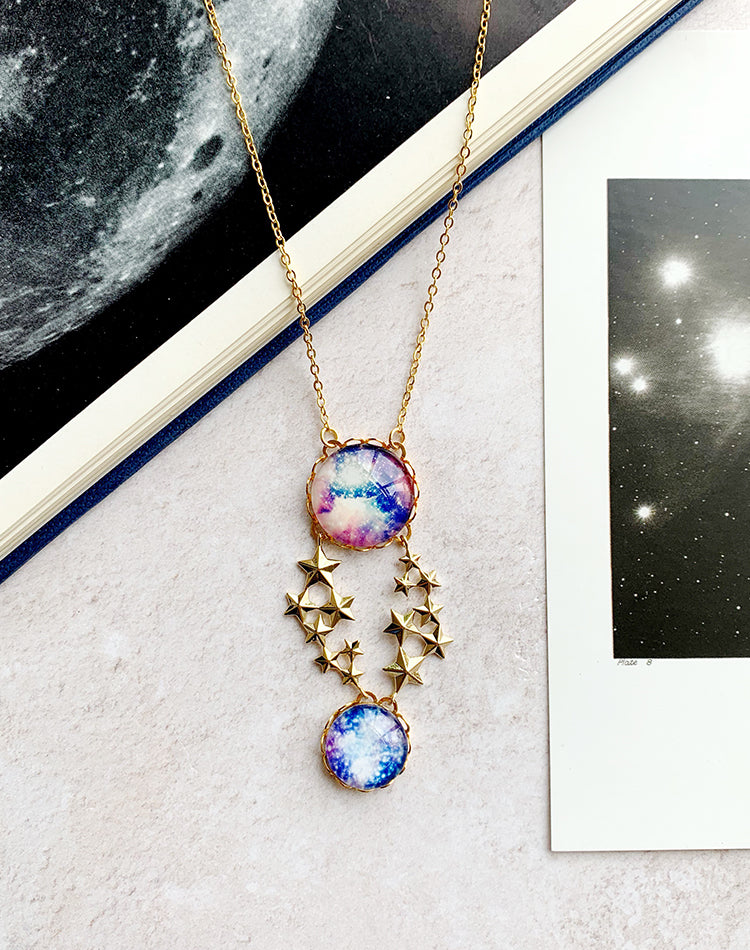 Another Dimension - Satellite Galaxies Space Necklace