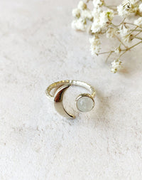 Artemis - Sterling Silver Moonstone Ring