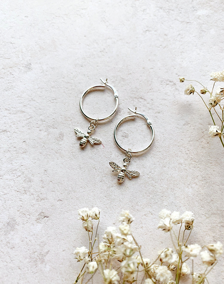 Honey Sterling Silver Hoop Earrings