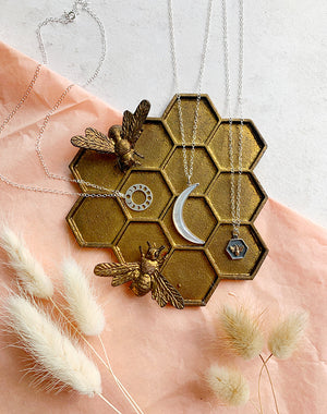 Golden Bee Hive Trinket Dish