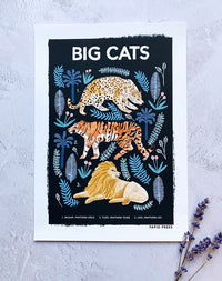 Big Cats: Natural History Print by Papio Press
