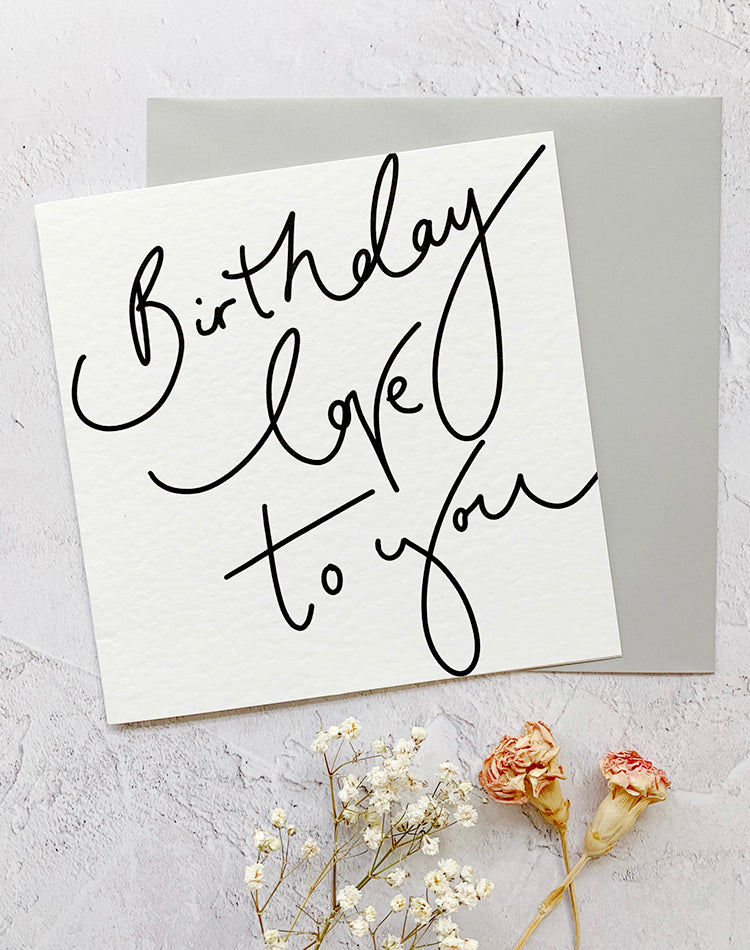 'Birthday Love To You' Square Oh Squirrel Card