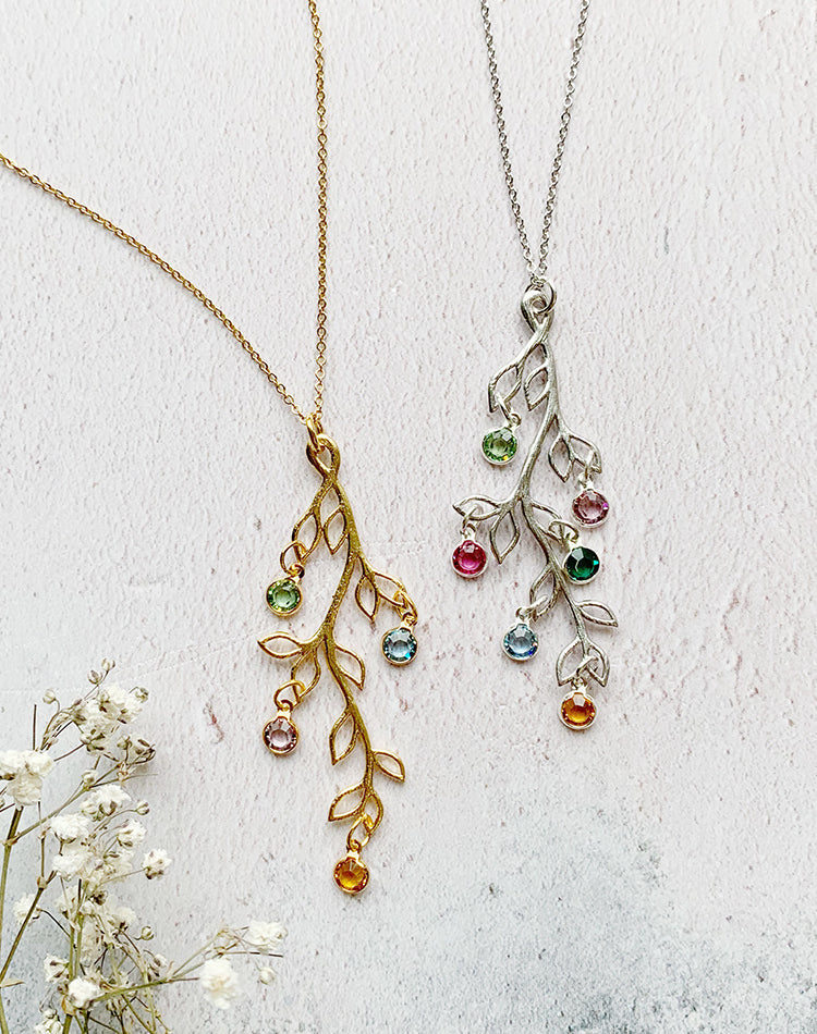 Keep It In The Family - birthstone family tree necklace