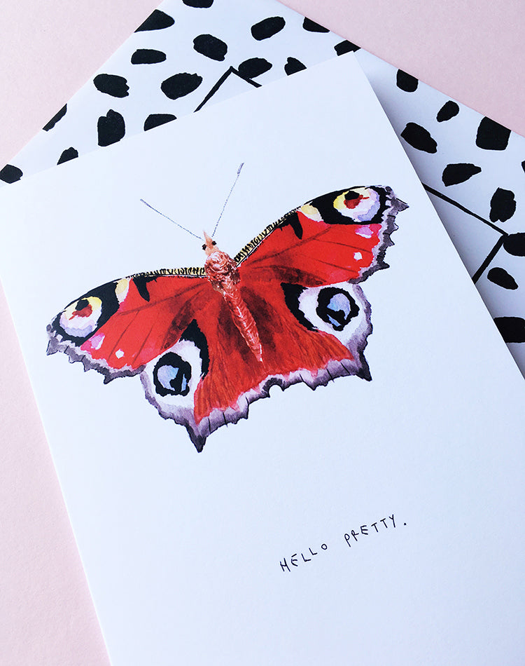 'Hello Pretty' Butterfly Greetings Card
