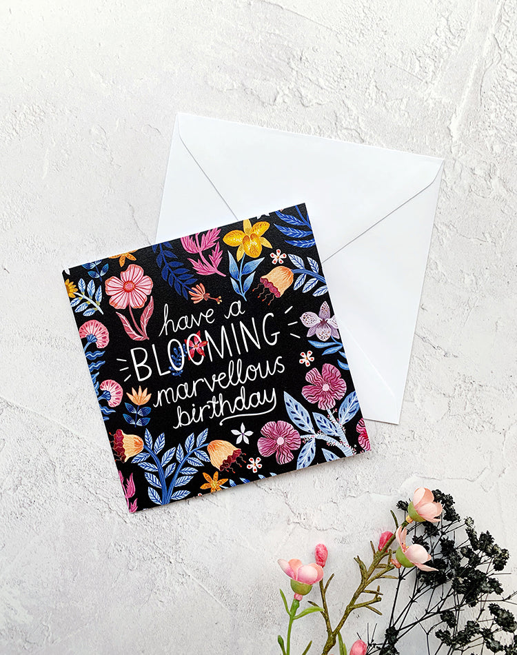 Have A Blooming Marvellous Birthday - Greetings Card by Papio Press