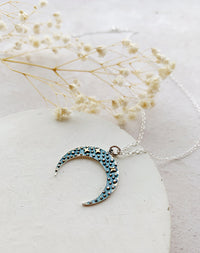 Bow: Sterling Silver Night Sky Necklace