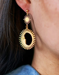 Bright Side - Moon and Sun Ray Earrings