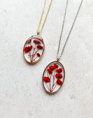 Bud Personalised Pressed Flower Necklace *
