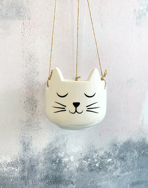 Cat Hanging Plant Holder