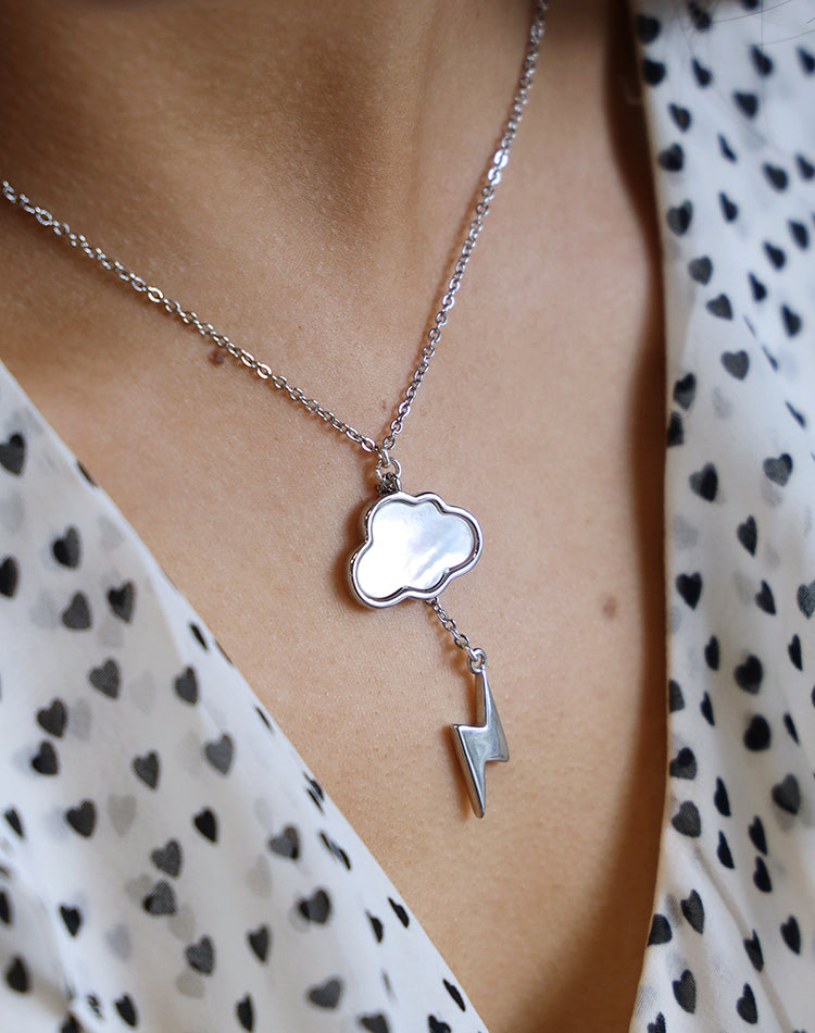 Strike It Lucky Cloud and Lightning Necklace