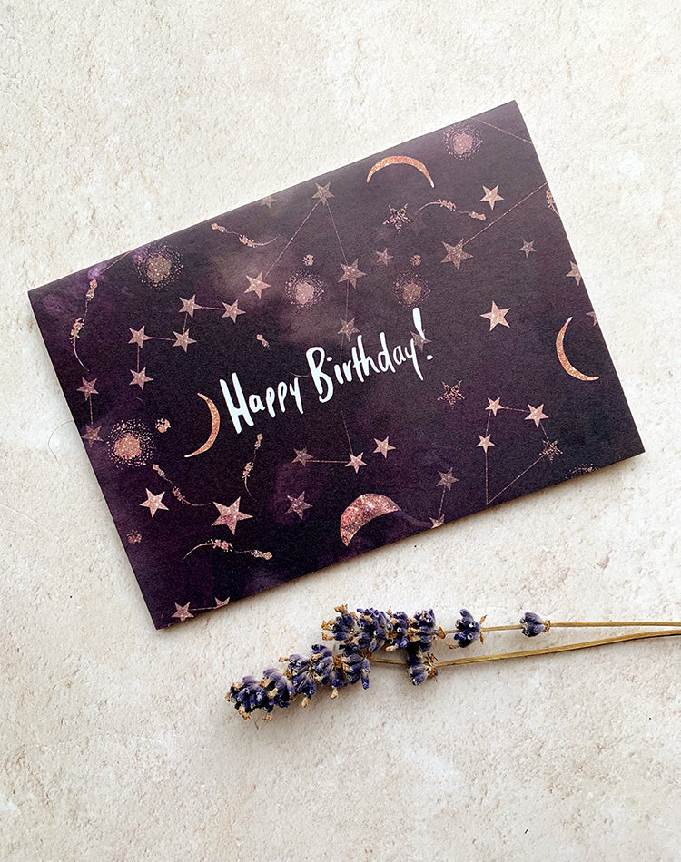 'Happy Birthday' Constellation Greetings Card
