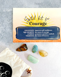 The 'Have Courage' Crystal Kit