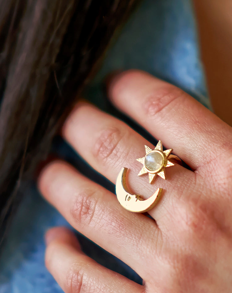Destiny Moonstone Moon Ring