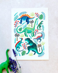 Dinosaur Jungle Print by Papio Press