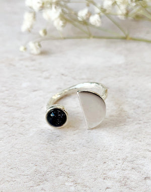 Eclipse - Sterling Silver & Goldstone Ring