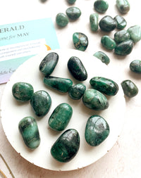 Emerald Tumblestone - May Birthstone