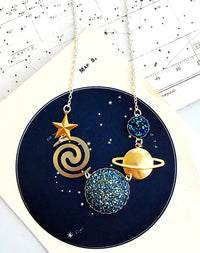 Event Horizon Black Hole Necklace