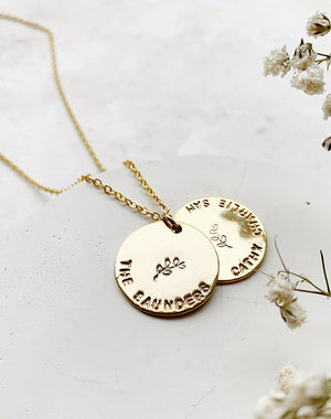 Family Hidden Message Disc Necklace