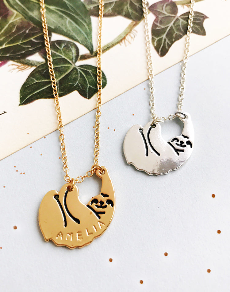 Feelin' Philoslothical Personalised Sloth Necklace