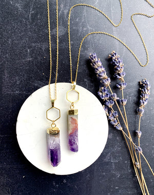 Fionn - Amethyst Pillar Necklace