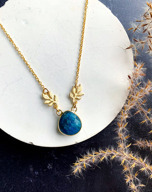 Flora - Blue Agate Necklace