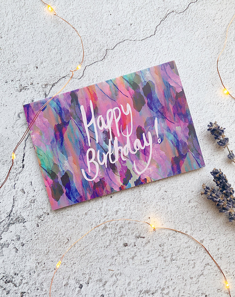 'Happy Birthday' Freedom Feathers Greetings Card