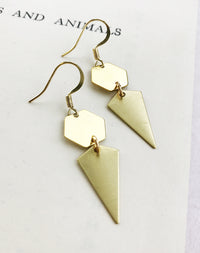 Freya Geometric Drop Earrings
