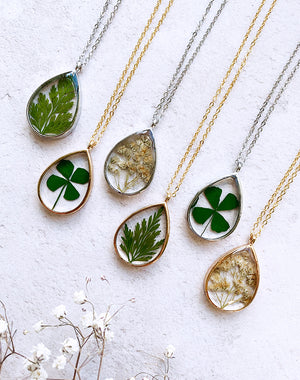 SECONDS SALE Frond Pressed Leaf Pendant