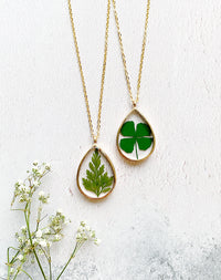 Frond Personalised Pressed Leaf Necklace