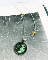 Glowing For It - Glow In The Dark Full Moon Necklace
