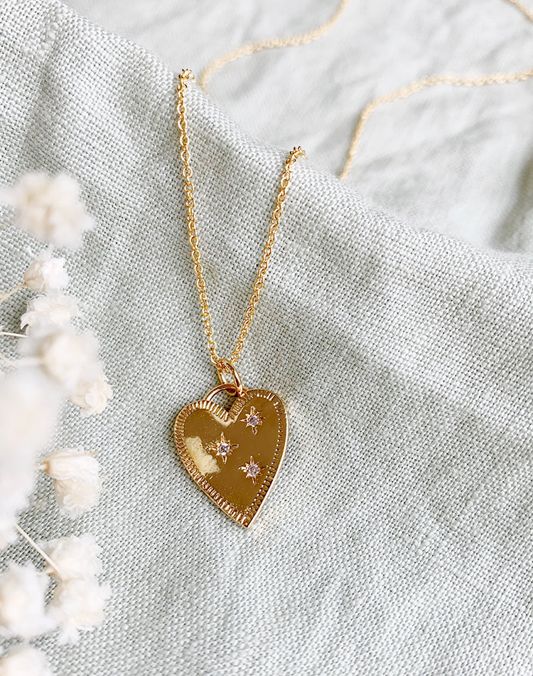 Adore- 14k Gold Fill Heart Necklace