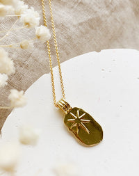 Helm: 14k Gold Fill Celestial Charm Necklace