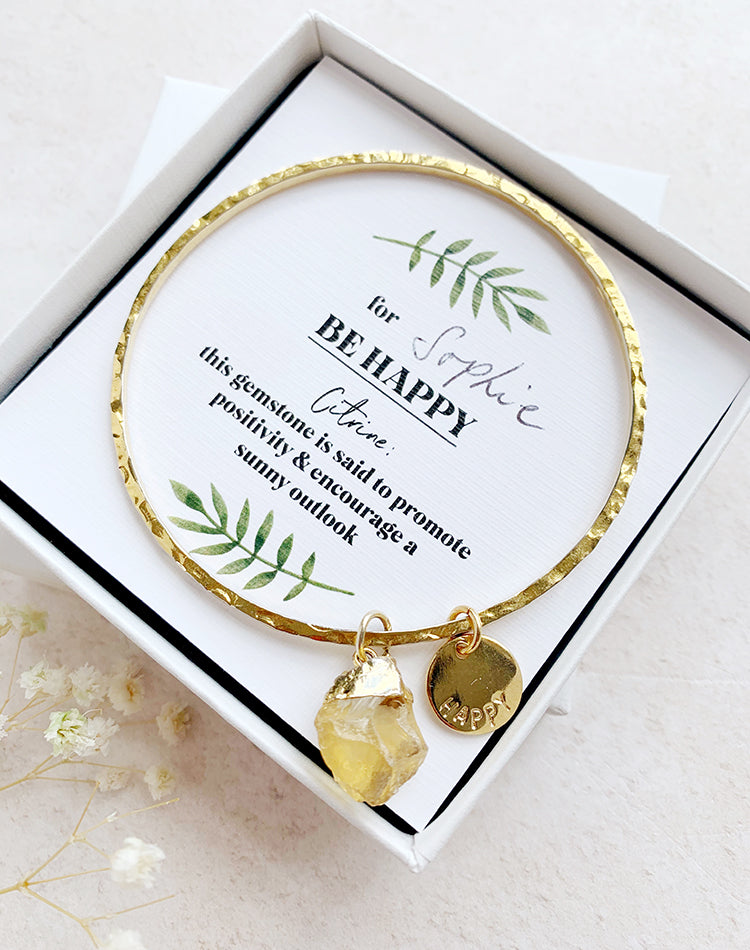 Rhea: Be Happy Citrine Gemstone Bracelet