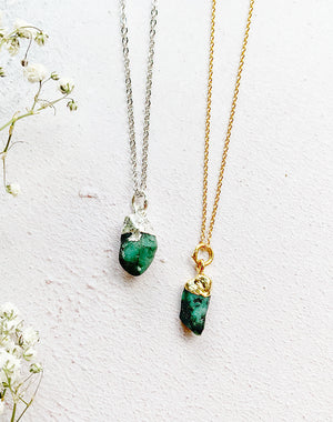 Hera Personalised May Birthstone Emerald Necklace