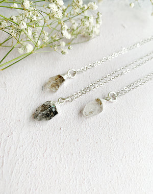 Hera Personalised April Birthstone Herkimer Diamond Necklace